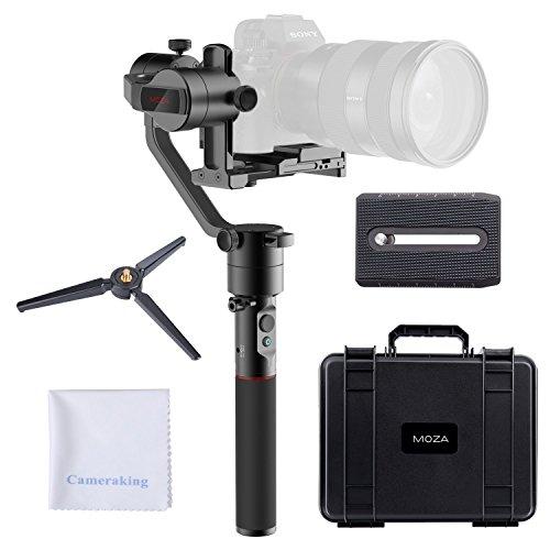 MOZA Aircross Estabilizador de 3 Ejes para cámara sin Espejo Estabilizador portátil Ligero de la cámara Carga útil máxima 3.9Lb
