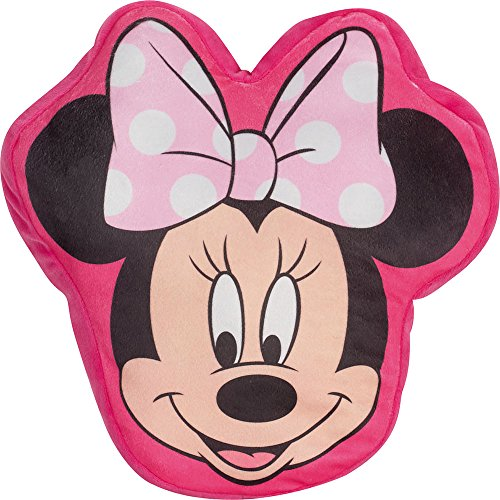 FUN HOUSE 712217 712217-FUN House-Minnie Coussin, Polyester, Rose, 43x22x8 cm