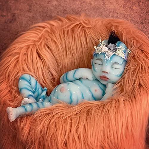 chisatowww Muñeca Reborn, Vinilo de Silicona Realista Avatar Girl muñecas realistas para bebés durmientes con Ropa Encantadora Playmate para niños 30CM / 50CM