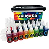 Premium Tie Die Kit Fabric Decorating Tye Dye DIY Kits for Adults 24 Color Set and Supplies