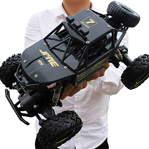 YAMMY 1:24 RC Large Feet Rock Crawlers Car, 2.4G Control Remoto inalámbrico Crawler Buggy Racing Car 4WD Off Road RC Drifting Climbin (Coche Inteligente)