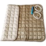 Amerthing Grounding EMF Protection Therapy Mats - Upgraded Healthy Conductive Energy Pads to Earth for Bed and Seats to Sleep Better and Recovery, Silver Fiber Indoor and Portable Relax Blanket