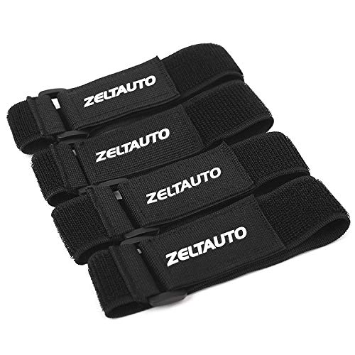 Zeltauto Elastic Hook and Loop Cable Ties Fastening Cable Straps 4Pcs 16Inch Adjustable Magic Securing Cord Organizer