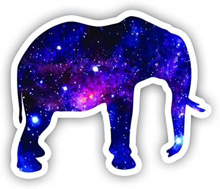 Elephant Sticker Galaxy Collection Laptop Stickers 2 5 Vinyl Decal Laptop Phone Tablet Vinyl product image