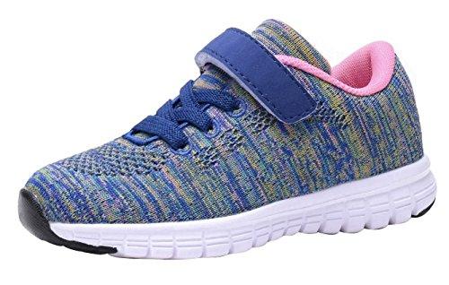 Umbale Girls Fashion Sneakers Comfort Running Shoes(Toddler/Kids) (10 M US Toddler, New Purple)