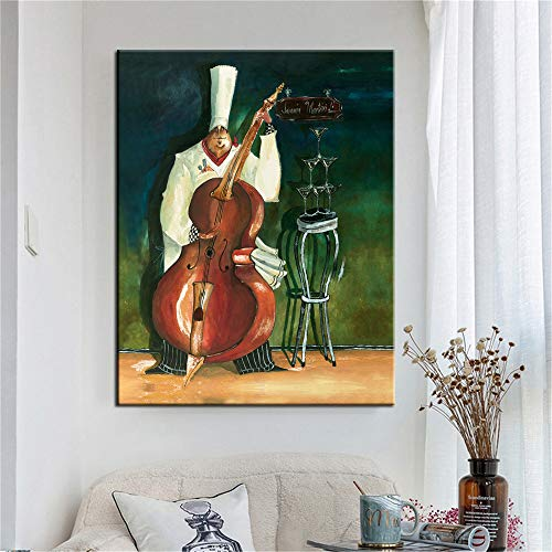 yhyxll Bar küche Dekoration Poster Kochen nudel Kaffee Lebensmittel leinwand malerei hd Druck...