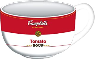 Campbells CP130133 Tomato Ceramic Soup Mug, 24-Ounce, white/red