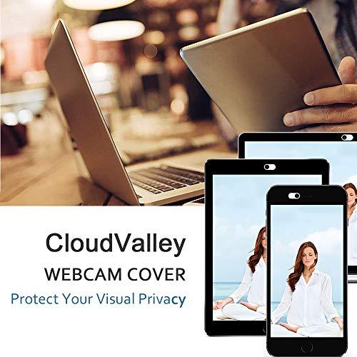 CloudValley Webcam Cover Slide, 0,023 Zoll weiß, Webkamera Abdeckung für MacBook Pro, MacBook Air, Laptop, iMac, Desktop, PC, iPad, iPhone 8/7/6 Plus, Sichtschutz, ultradünn [2 Packs]