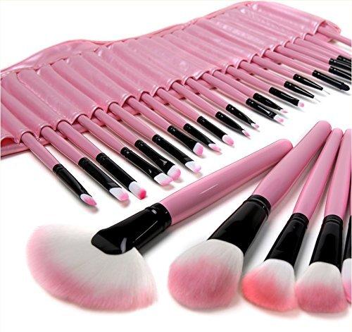 ZJchao 32 Pink Pinsel MAKE UP Kosmetik Profi Schatten 18 Stiftung Puder Blush, Make Up Pinsel Set,...
