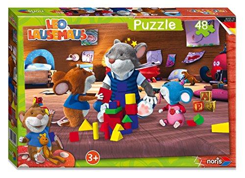 Noris 606038054 - Leo Lausemaus Puzzle, 48 Teile