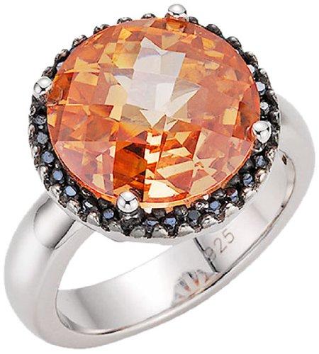 Giorgio Martello Milano Damen-Ring 925 Sterling Silber Zirkonia braun Gr.56 (17.8) 306209560