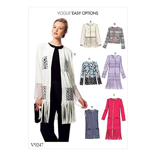 Vogue Mustern Schnittmuster Jacken und Weste, mehrfarbig, Größen xsm-med