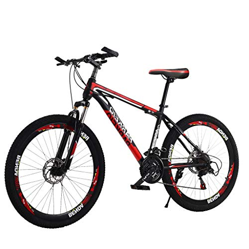 ZURQV Outroad Damping Mountain Bike 26 Inch with 21 Speed Dual Disc Brakes Hybrid Comfort Road Bikes