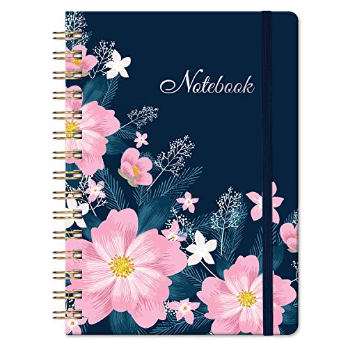 """Ruled Journal/Notebook - Lined Journal with Hardcover, 8.35"""" x 6.3"""", College Ruled Journal, Inner Pocket, Strong Twin-Wire Binding with Premium Paper, Perfect for School, Home & Office"""