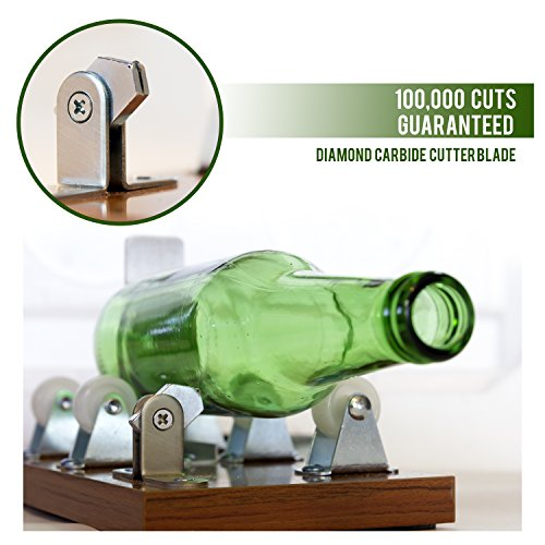 Glass Cutter - Glass Bottle Cutter - Arts and Crafts for Adults - Extra Cutting Wheel Included!