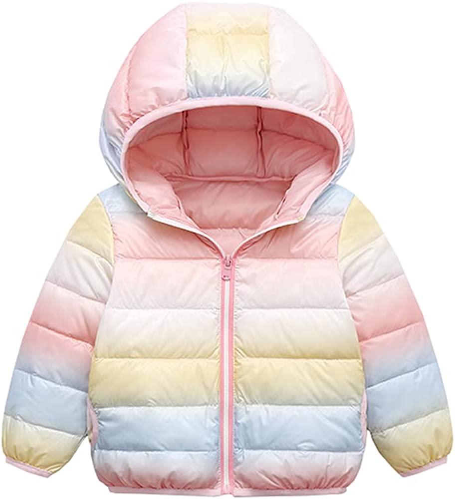 ARTMINE Little Girls Boys Lightweight Packable Down Hooded Jacket Coat
