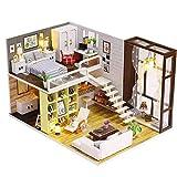 NSWMHDQ Madera miniatura de la casa de muñecas kit con la muñeca y de la música, mini casa de artesanía en madera de construcción de madera Kit-Puzzle-El sistema del modelo de bricolaje Cabina De Made