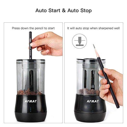 AFMAT Long Point Pencil Sharpener, Drawing Pencils Sharpener, Pencil Sharpener Electric, 6-8.5mm Charcoal Pencil Sharpener for Sketching Pencils/Drawing Pencils, 25mm Super Long Tip Photo #3