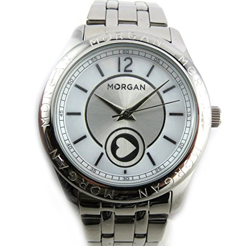 Morgan [N2414] - Armbanduhr 'French Touch' 'Morgan' silberfarben (Liebe).