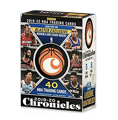 2019-20 Panini CHRONICLES Basketball Blaster Box - 40 Total Cards - Chase Zion Williamson, Ja Morant, Coby White, Tyler Herro Rookie Cards - Find Blaster EXCLUSIVE Pink Parallels!