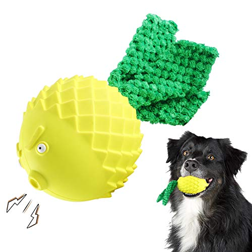 Dog Toys for Aggressive Chewers Large Medium Breed Small, Fun Dog Squeaky Toys with Flannelette and Natural Rubber, Birds Indestructible Chew Toys,Beef-Flavored Dog Toys,Training,Dog Teething Toys