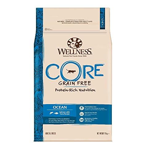 Wellness CORE Ocean Getreidefreies Katzenfutter Trocken, Hoher Fleischanteil, Lachs und Thunfisch, 10 kg