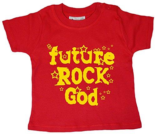 Dirty Fingers, Future Rock God T-shirt pour bébé garçon - Rouge - XXS