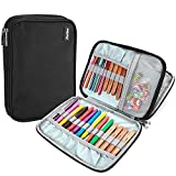 ProCase Crochet Hook Case (up to 9 Inches), Travel Organizer Zipper Bag for Various Croche...