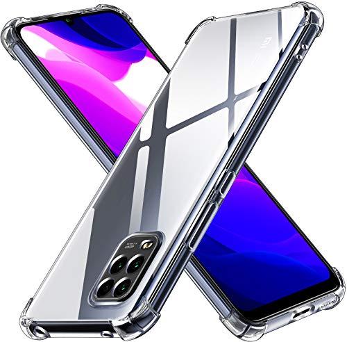 ivoler Klar Silikon Hülle für Xiaomi Mi 10 Lite 5G mit Stoßfest Schutzecken, Dünne Weiche Transparent Schutzhülle Flexible TPU Durchsichtige Handyhülle Kratzfest Case Cover