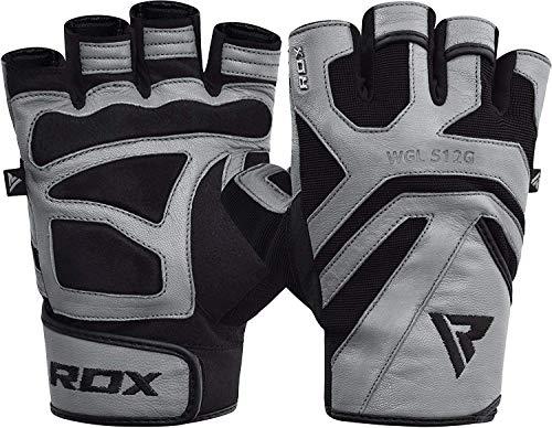 guanti palestra pelle RDX Guanti Palestra Pelle Fitness Sollevamento Pesi Allenamento Workout Antisudore Bodybuilding Polso Imbottiti Powerlifting Antiscivolo Gym Gloves