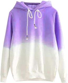 Sumen Teen Girls Elegant Hoodie Sweatshirt Fashion Swag Curved Hemline Blouses