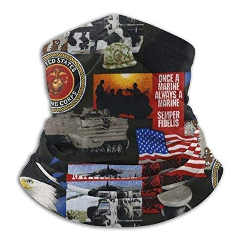 XCVD Komfort United States of America Marines Militär Multifunktionaler Mikrofaser-Halswärmer, Sport-Gesichtsschutz Nackenwärmer Kopfwickelschals Gesichtsmaske Bandana