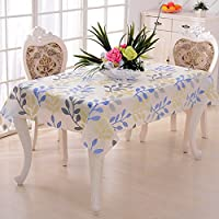 Bazaar PVC Table Cloth Europe Rural Style Waterproof Oilproof Tablecloth Bronzing Rectangular Table Cover