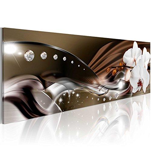 murando Acrylglasbild Blumen 120x40 cm 1 Teile Wandbild auf Acryl Glas Bilder Kunstdruck Moderne Wanddekoration Orchidee Diamant b-A-0072-k-b