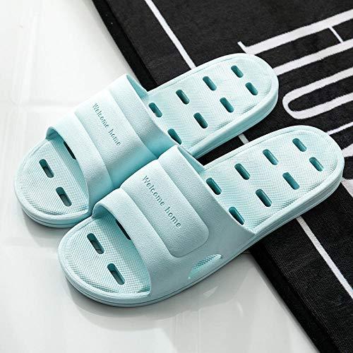 JFHZC Zapatos de baño para interiores y playa, unisex, antideslizantes, antideslizantes, sandalias y zapatillas, adecuados para el hogar y los hoteles de interior-azul_5.5-6UK