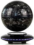 Globo Flotante Levitación magnética Mapa del Mundo Cambio Multicolor con Luces LED y Plataforma Negra y 88 Constelaciones para decoración de Escritorio de Oficina en casa, B