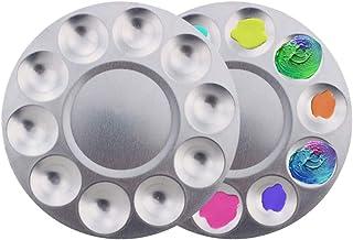 Paleta de pintura 2pcs con 10 pocillos Bandejas redondas de