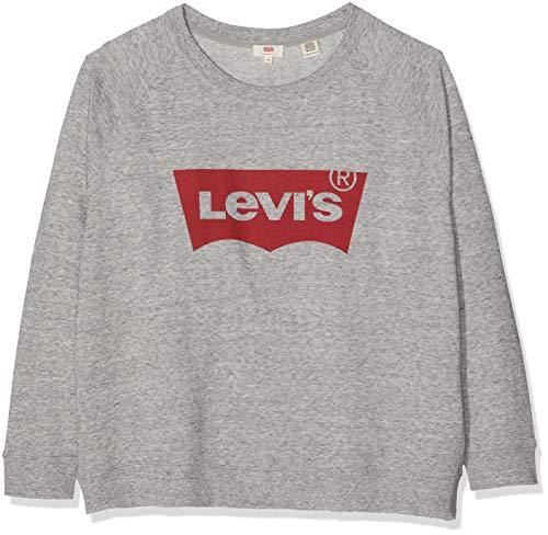 Levi's Plus Size Pl Relaxed Graphic Crew Sweat-Shirt, Plus Fleece Housemark Smokestack HTR, XX-Large Femme