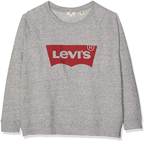 Levi's Plus Size Damen PL Relaxed Graphic Crew Sweatshirt, Grau (Plus Fleece Housemark Smokestack Htr 0000), XX-Large