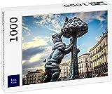 Lais Puzzle La Estatua del Oso y el madroño en la Puerta del Sol de Madrid 1000 Piezas