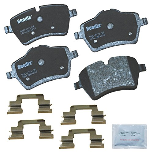 Bendix Premium Copper Free CFC1204 Ceramic Brake Pad (with Installation Hardware Front)