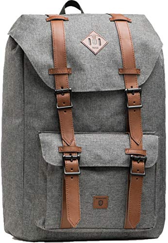 INDICODE Unisex Heiss Backpack 25L with Padded 15 Inch Laptop Bag | Trendy School 15' Compartment Hiking Daypack Day Pack Bicycle in Grey OS