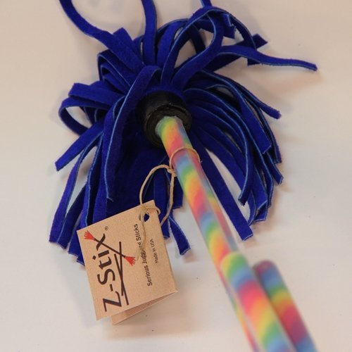 Z-Stix Flower Sticks - Hand Made Juggling Devil Sticks - 22' - 30' -Made in USA (Rainbow, Mosquito...