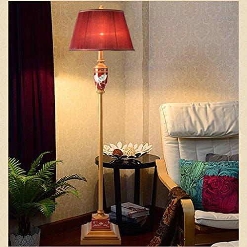 ZIXUANJIAXL Lámpara de Pie Estudio Roja China Lámpara de Piso de la Sala Retro Lámpara de pie Lámpara estándar clásica lámpara de pie