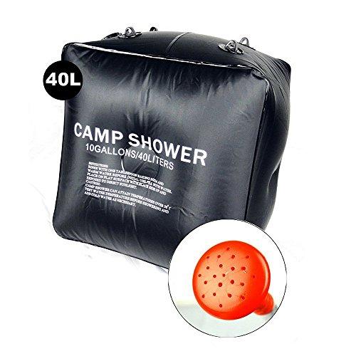 Primi 40l utile campeggio portatile solare doccia borsa (nero & # XFF09;