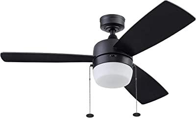 Honeywell Ceiling Fans 51476-01 Barcaderro Ceiling Fan, 44, Matte Black