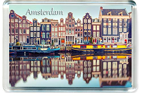 J003 Amsterdam Jumbo Imán para Nevera Netherlands Travel Fridge Magnet