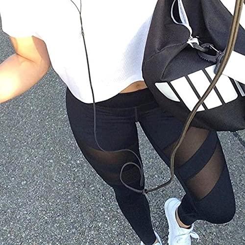 ArcherWlh Leggings,Pantalones de Yoga Apretados Cuatro Agujas y Seis cuerpos Negros.-Negro_S