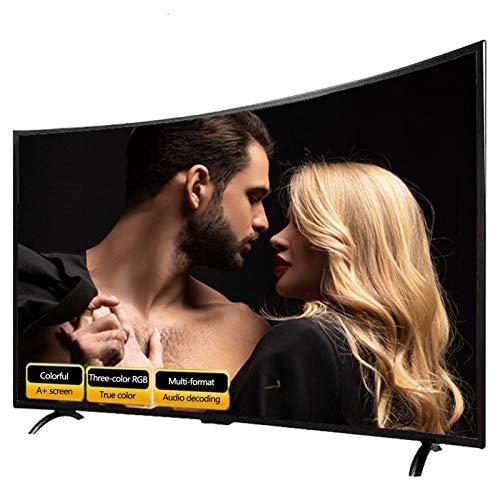 XFF 32/42/50/55/65/75inch Smart LED TV, Pantalla Curva Prueba Explosiones, Admite Proyección Teléfono Móvil/Montaje Pared, Wi-Fi, USB, HDMI, Bluetooth, para Sala Estar, Dormitorio