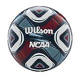 Wilson NCAA Premium Soccer Ball, Navy/Red